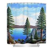 Granite Boulders Lake Tahoe Shower Curtain