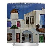 Greek Village Shower Curtain