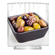 Green And Black Olives Shower Curtain