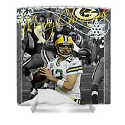 Green Bay Packers Christmas Card Shower Curtain