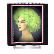 Green Velvet Shower Curtain