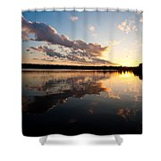 Greenlake Sunset Shower Curtain