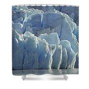 Grey Glacier In Chilean National Park Shower Curtain