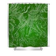Guatemala Street Map - Guatemala City Guatemala Road Map Art On  Shower Curtain