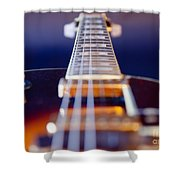 Guitar Shower Curtain by Stelios Kleanthous