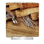 Hammer And Nails  Shower Curtain
