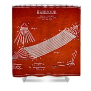 Hammock Patent Drawing From 1895 Shower Curtain