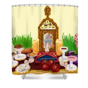 Happy Nowruz Shower Curtain