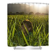 Happy Woman Shower Curtain