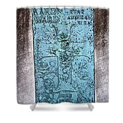 Headstone Abstract Shower Curtain