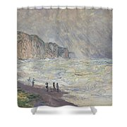 Heavy Sea At Pourville Shower Curtain