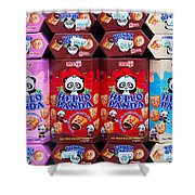 Hello Panda Biscuits Shower Curtain