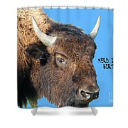 Herd Its Your Birthday Shower Curtain