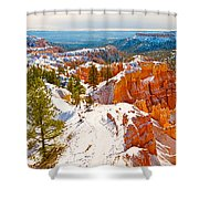 High Angle View Of Rock Formations Shower Curtain
