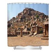 Hindu Ruins At Hampi Shower Curtain