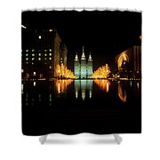 Historic Temple And Square In Salt Lake Shower Curtain
