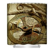 .historical Navigation Shower Curtain