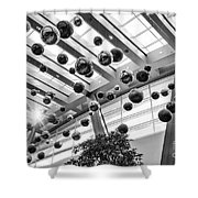 Holiday Glass Ornament Decorations At The Aria Resort And Casino Shower Curtain