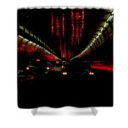 Holland Tunnel Lights Shower Curtain