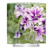 Hollyhocks Shower Curtain