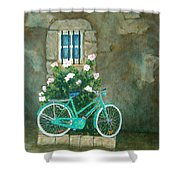 Home For Lunch In Rome Shower Curtain