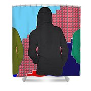 Hoodie Gang Graffiti Fashion Background Designs  And Color Tones N Color Shades Available For Downlo Shower Curtain