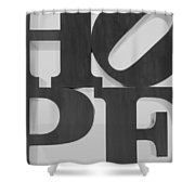 Hope In Black And White Shower Curtain