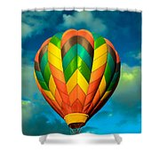 Hot Air Balloon Shower Curtain by Robert Bales