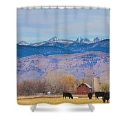 Hot Air Balloon Rocky Mountain Country View Shower Curtain