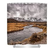 Hot Creek Shower Curtain by Cat Connor