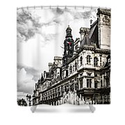Hotel De Ville In Paris Shower Curtain by Elena Elisseeva