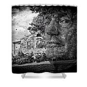 House On Haunted Hill Shower Curtain by Madeline Ellis