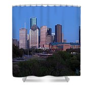 Houston Skyline At Dusk Shower Curtain
