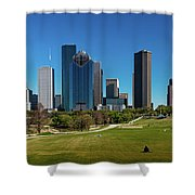 Houston, Texas - High Rise Buildings Shower Curtain