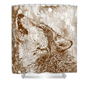 Howling Gray Wolf Shower Curtain