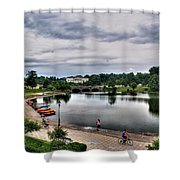 Hoyt Lake Delaware Park 0004 Shower Curtain