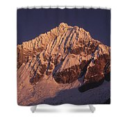 Mt Huandoy Sunrise Peru Shower Curtain