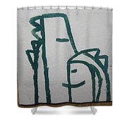 Hugs - Tile Shower Curtain
