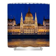 Hungarian Parliament In Budapest Shower Curtain