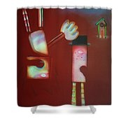 Icarus And Daedalus Shower Curtain