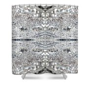 Ice Storm Abstract Shower Curtain