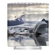 iceland Jokulsarlon Shower Curtain