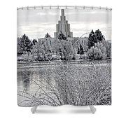 Idaho Falls Temple Shower Curtain