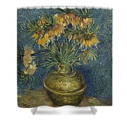 Imperial Fritillaries In A Copper Vase Shower Curtain