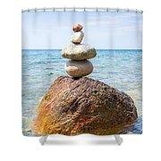 In Balance Shower Curtain