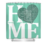 Indianapolis Street Map Home Heart - Indianapolis Indiana Road M Shower Curtain