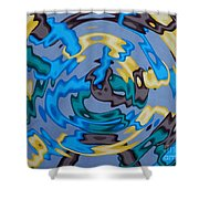 Interlock 3 Shower Curtain by Anthony Morris