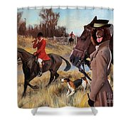 Irish Water Spaniel Art Canvas Print Shower Curtain