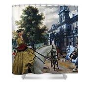 Italian Greyhound Art Canvas Print  Shower Curtain