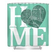 Jacksonville Street Map Home Heart - Jacksonville Florida Road M Shower Curtain